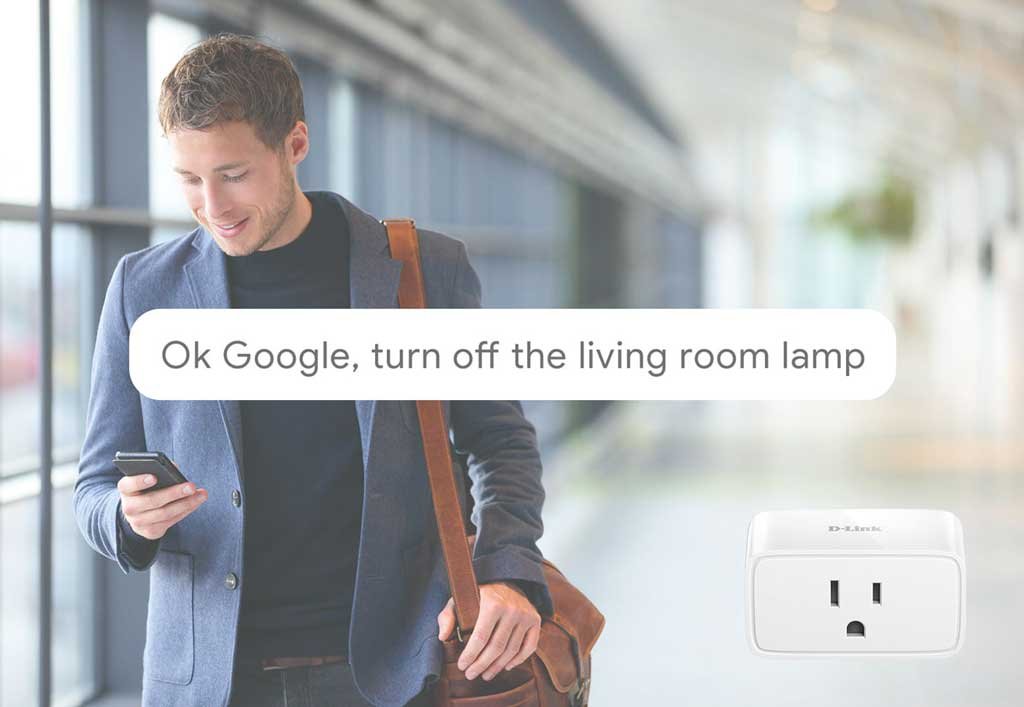 OK Google, turn off the living room lamp